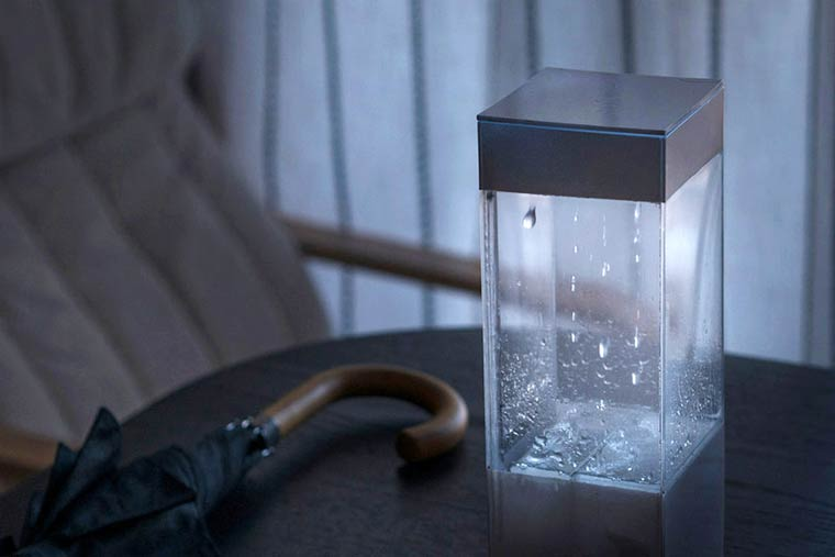 Tempescope - A gadget that simulates in miniature the weather for tomorrow