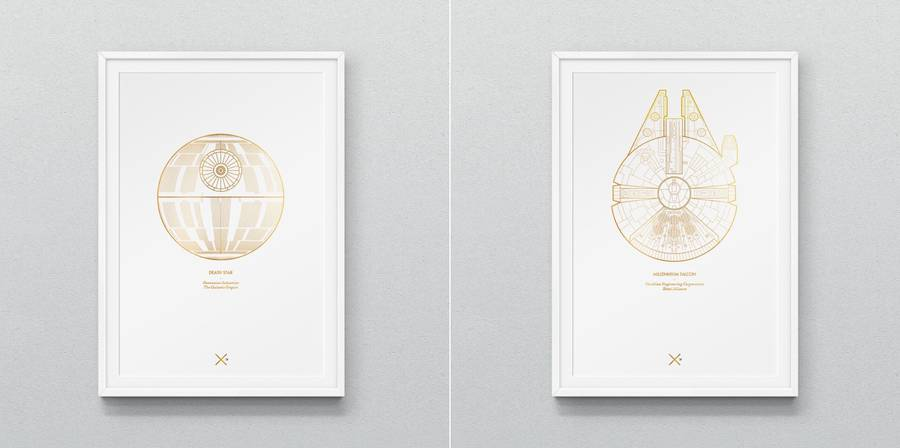 Star Wars Iconic Spaceships Posters (5 pics)