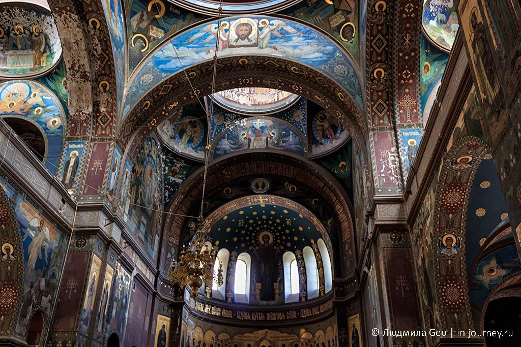 Новоафонский монастырь вид внутри