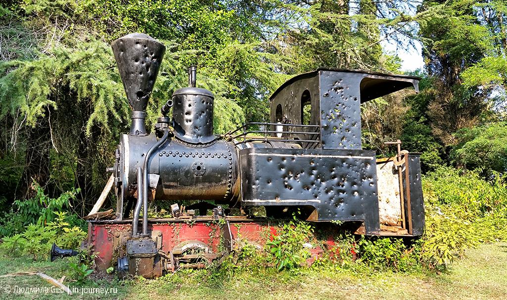 паровоз в Новом Афоне на горе Акун