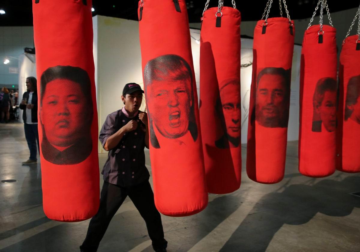Боксерские груши на любой вкус: В калифорнийском спортивном зале
