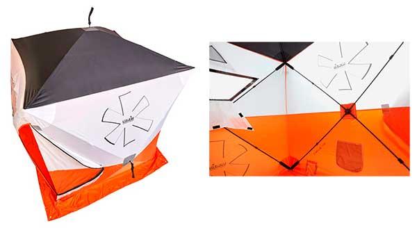 NORFIN HOT CUBE  – новая двухместная  рыболовная палатка