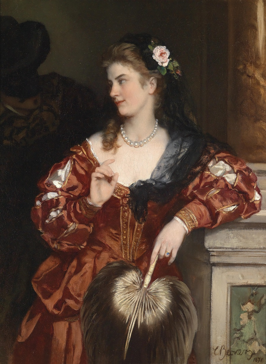 Young Lady With Roses In Her Hair, 1871