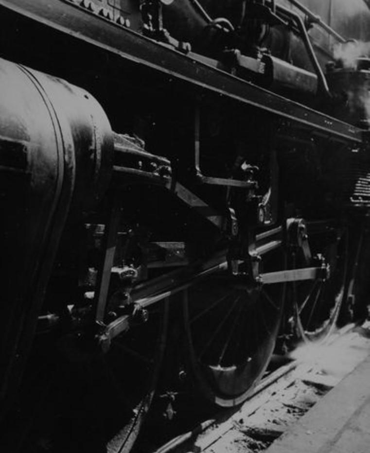 1938. Локомотив. Северный вокзал. Париж