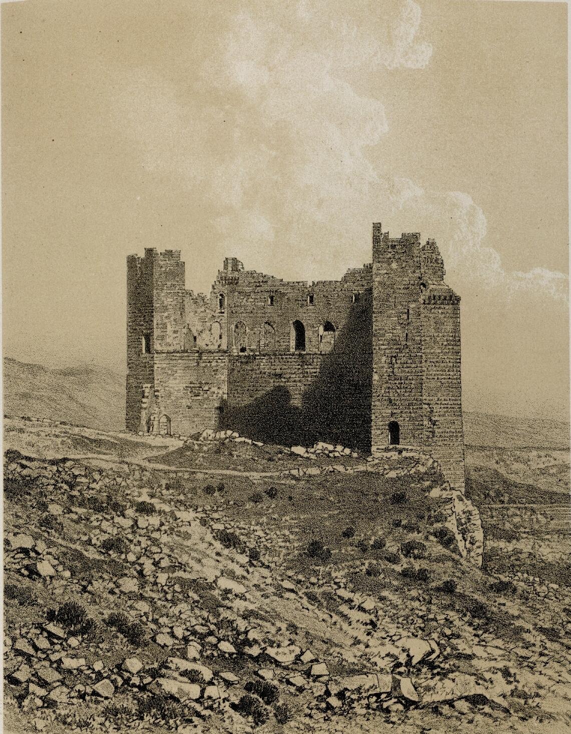 65. Эль-Карак. Башня Малк-эд-Дахер, вид внутри