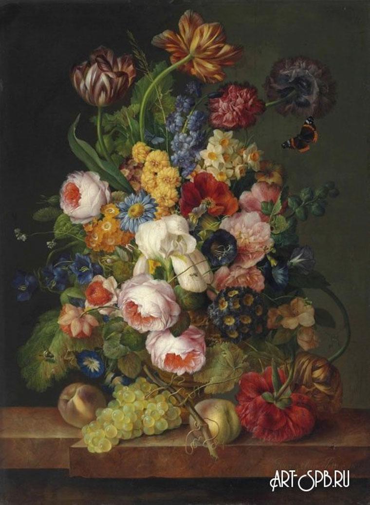 18855.jpgНатюрморт с цветами, фруктами и насекомыми. Франц Ксавер Петтер.jpg
