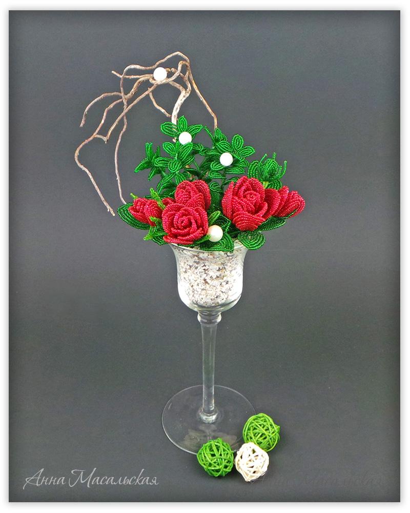 cvety iz bisera dlja nachinajushhih