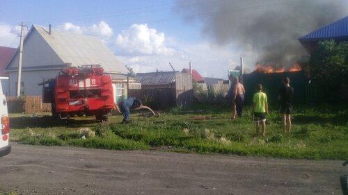 пожар на Новой в Куйбышеве
