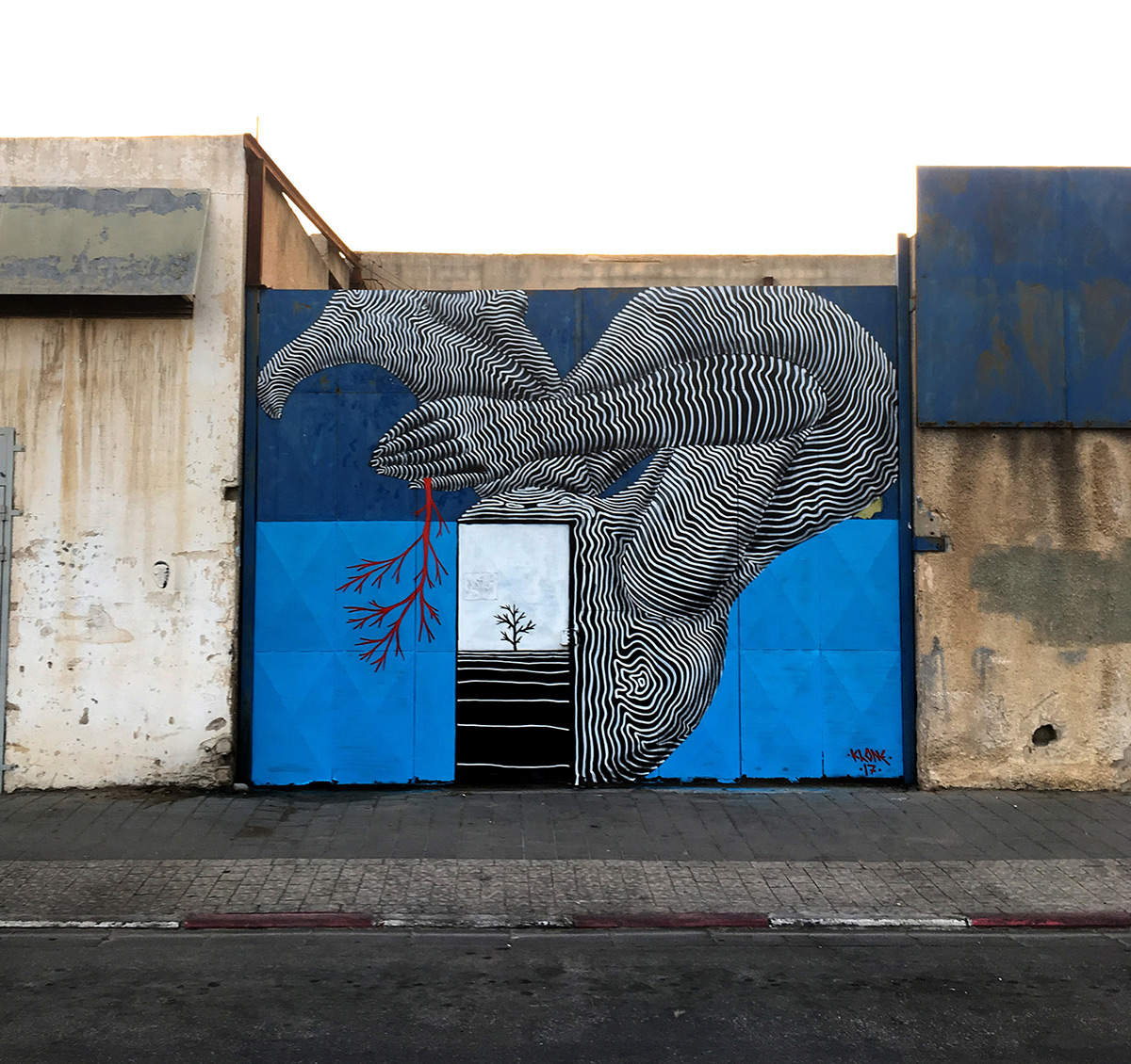 Densely Textured Murals Reminiscent of Topographical Maps by 'Klone'