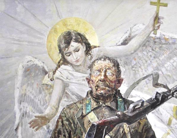 Сафронов В А Явление ангела солдату 2013 Рус гал 2015 №3 фр.jpg