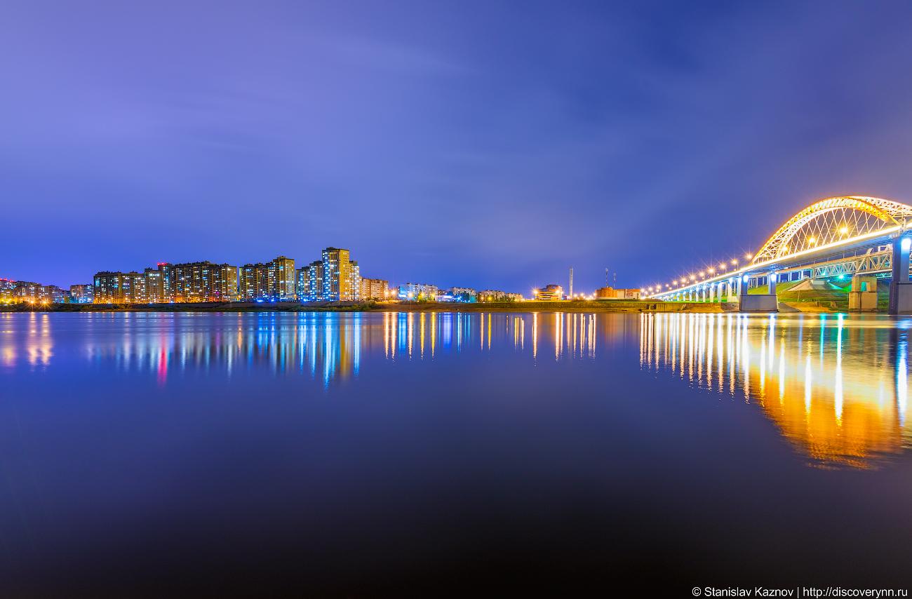 Новый борский мост через Волгу