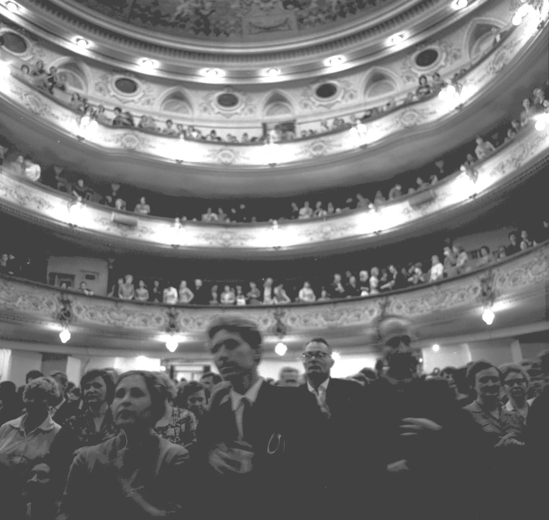 Заполненный зрительный зал театра БДТ. 1965,06