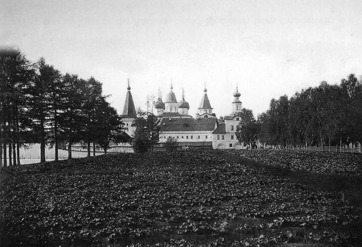 Окрестности Холмогор. Вид Антониево-Сийского монастыря с северной стороны
