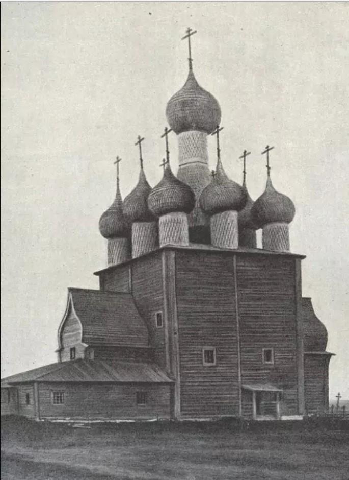 Окрестности Холмогор. Чухчерьма. Ильинская церковь. Южный фасад