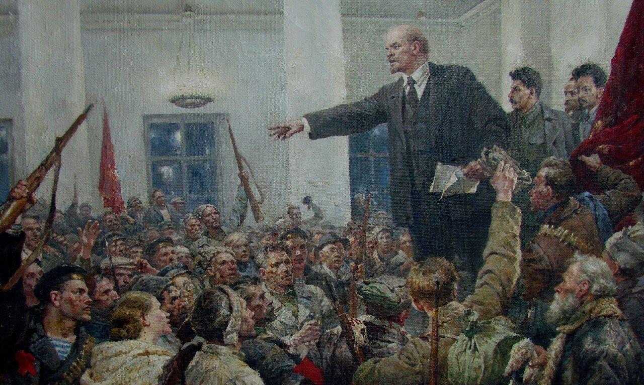 владимир серов. ленин провозглашает советскую власть. авторское повторение картины.jpg