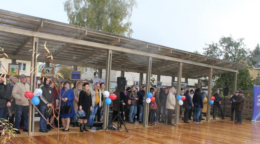 В Тарусе сдан в эксплуатацию второй объект благоустройства по программе «Формирование комфортной городской среды»