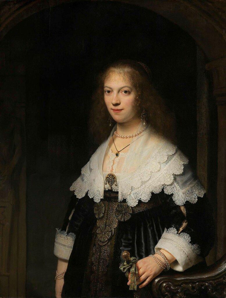 115.Портрет молодой женщины (возможно, Марии Трип, 1619-1683) (ок.1639) (107 x 82 см) (Амстердам, Гос.музей).jpg