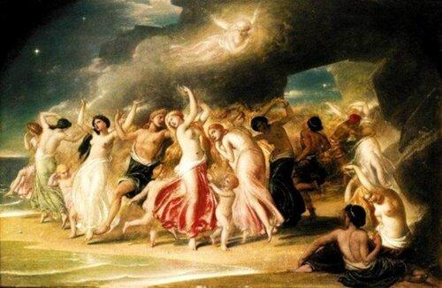 William Edward Frost (1810 – 1877, English) Танцы нимф