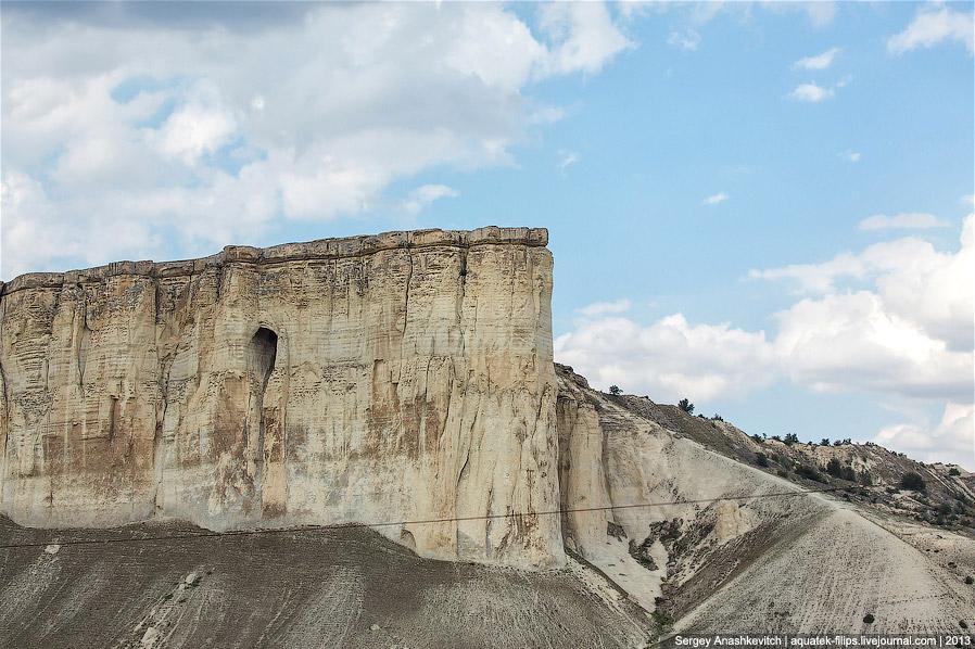 Плато на горе Аджилар. Здесь, у подножия Аджилара и далее, во впадине между ним и Ак-Кая, и снималис