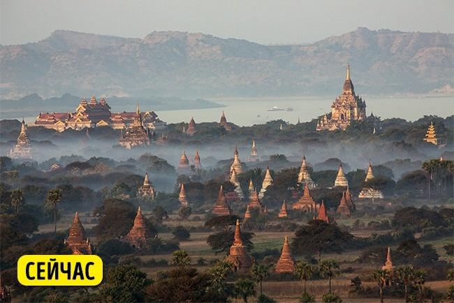 © depositphotos  Баган  — это дом для более чем 2000 буддистских храмов ипагод, построенных