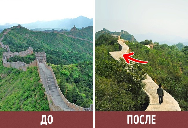 © ASSOCIATED PRESS/FOTOLINK  © AP/FOTOLINK  Великая Китайская стена— крупнейший памятни