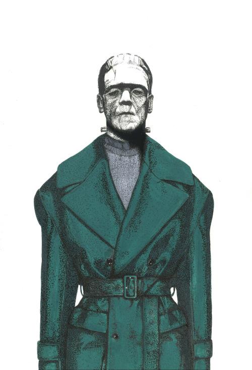 Frankenstein's Monster wearing Juun.J Fall 2014 Menswear Collection.