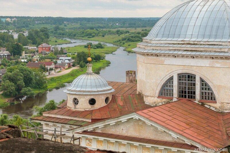 Борисоглебский собор и панорама реки Тверцы, Торжок