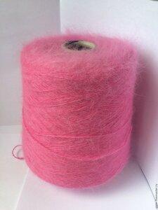 пряжа Ангора 70 Fluff ярко розовый