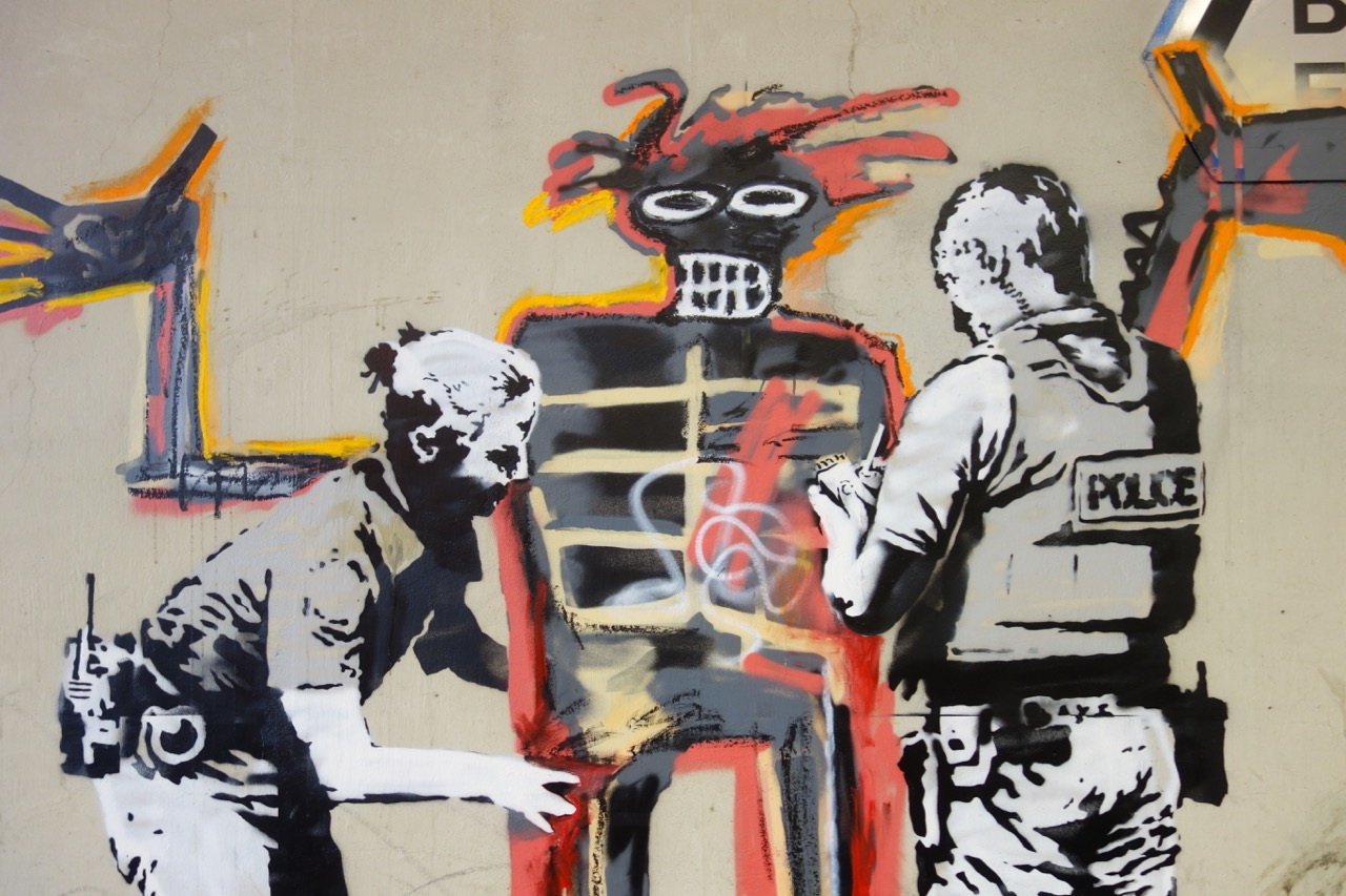Streets: Banksy - Basquiat Tribute Pieces (London)