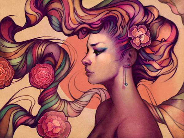 Beautiful Art Nouveau Style Illustrations - Megan Lara