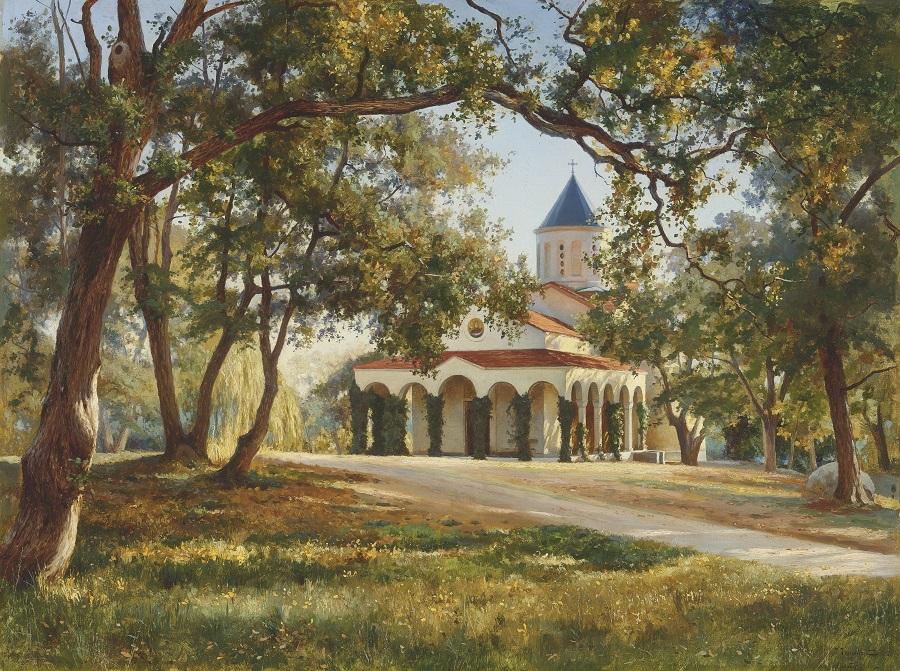 Church of the Intercession of Our Lady, Oreanda, Crimea , 1896.jpg