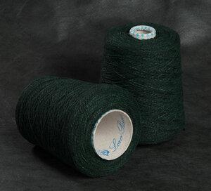 16289-Vintage, кашемир с кожаным покрытием, зеленый
