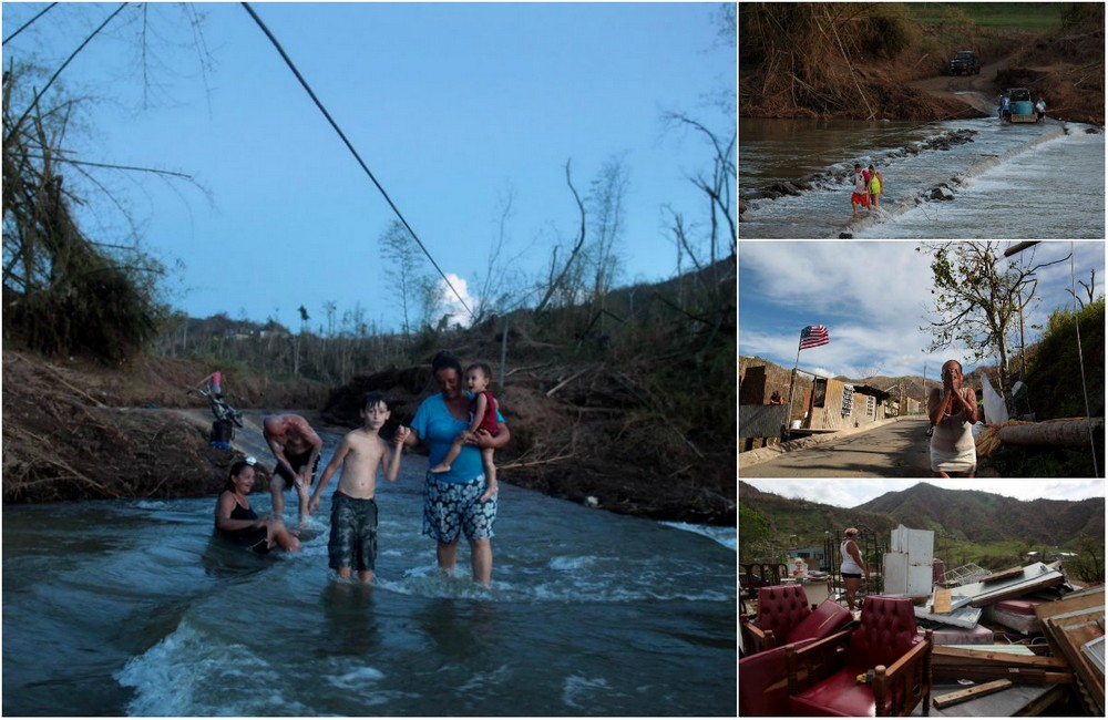 Ураган отрезал село в Пуэрто-Рико от внешнего мира