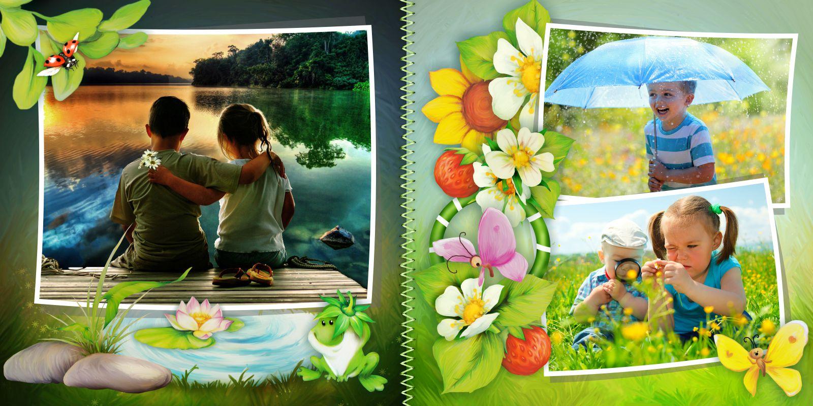 детская фотокнига лето пример