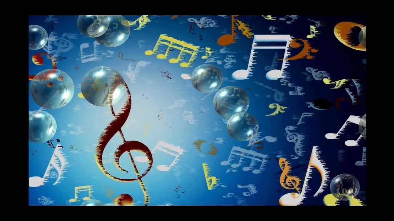 Открытки. 1 октября.  С Днем Музыки! Ноты и скрипичный ключ открытки фото рисунки картинки поздравления