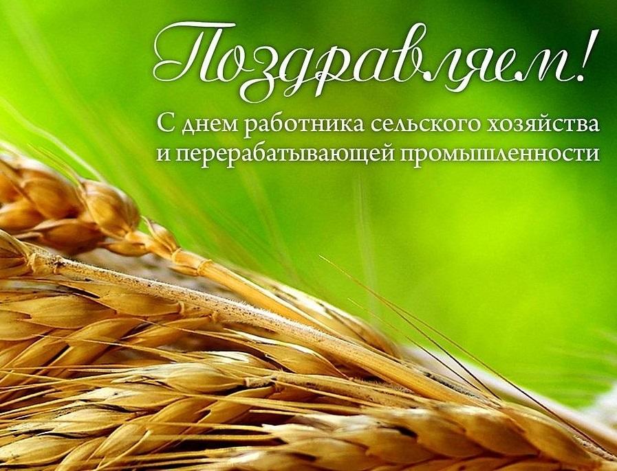 Открытка поздравление с днем работников сельского хозяйства