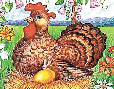 Всемирный день яйца. Курица на яйце