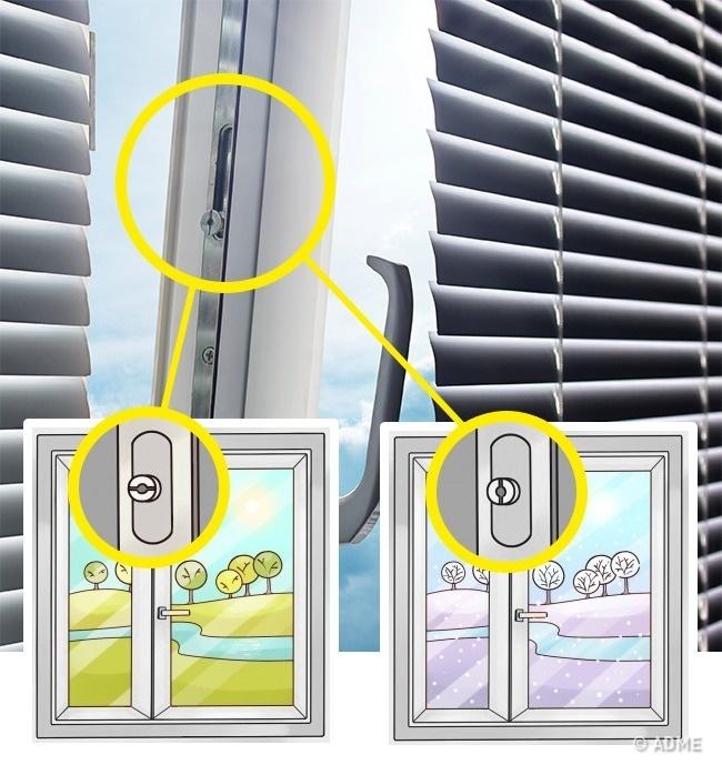 Упластиковых окон есть полезный механизм , переключающий режимы взависимости отвремени года. Мало