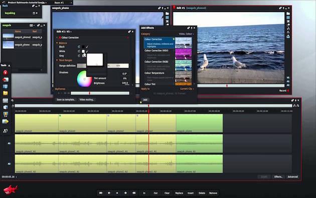 Lightworks — профессиональный видеоредактор, в котором монтировались такие фильмы, как «Волк с Уолл-