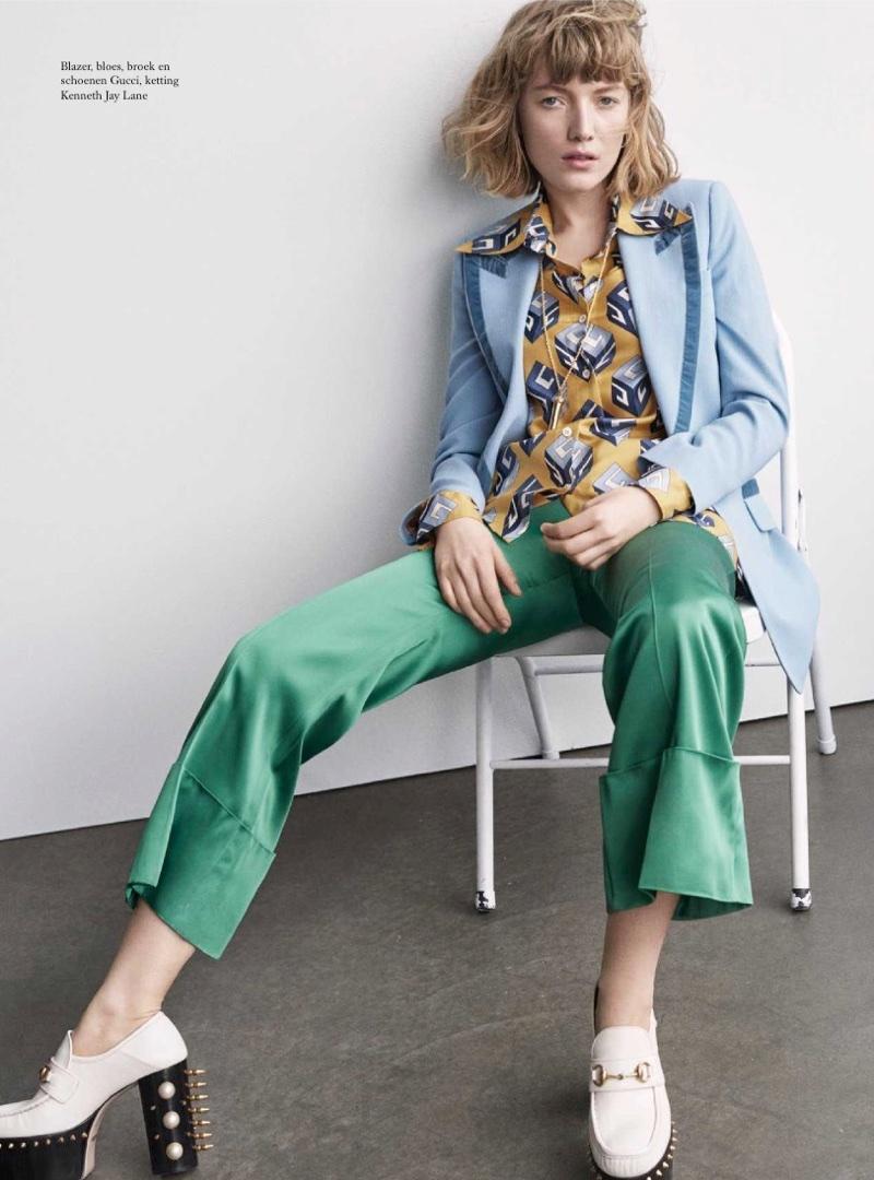 Лу Скуф на страницах нидерландского Harper's Bazaar