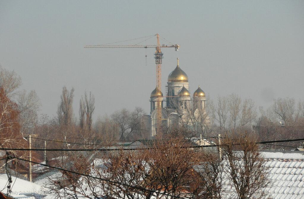 Стройка мечети, Турксибский район.
