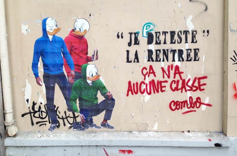 When the street artist Combo is having fun with anti-graffiti brigade