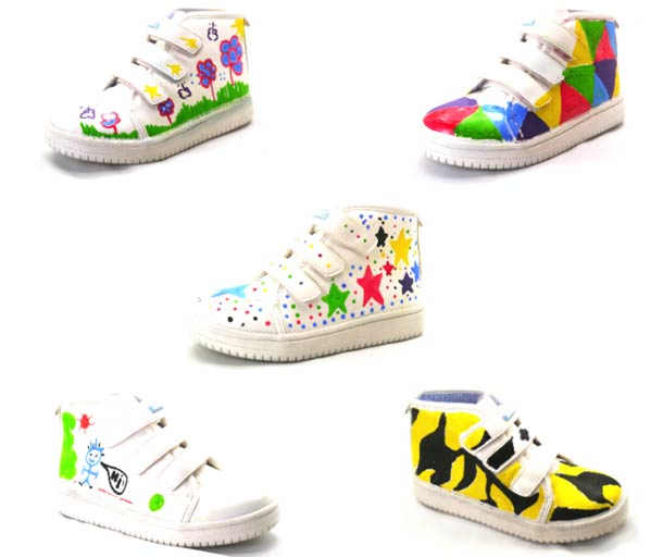 Monkies - Customizable Drawing sneakers for Kids!
