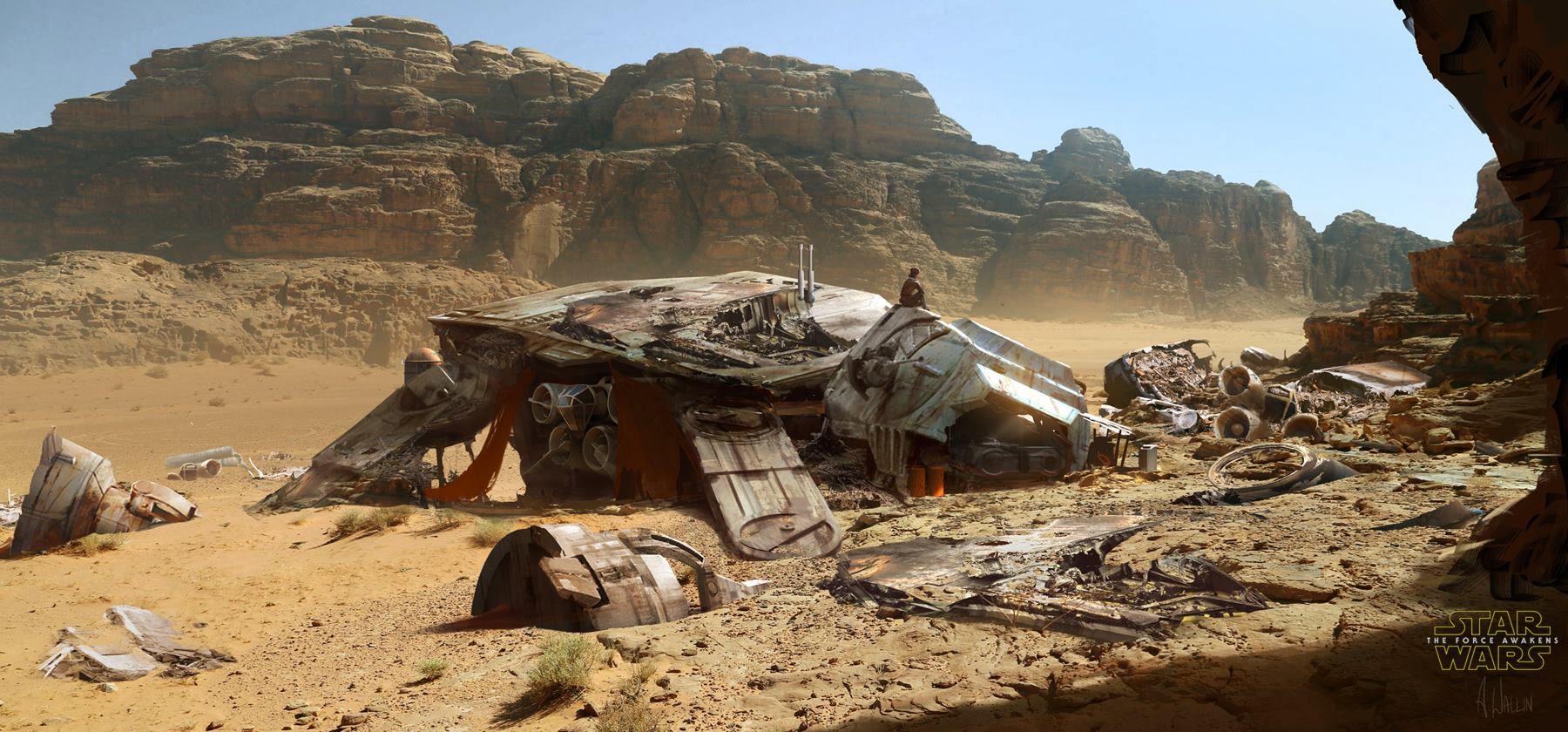 Star Wars: The Force Awakens Concept Art by Andree Wallin