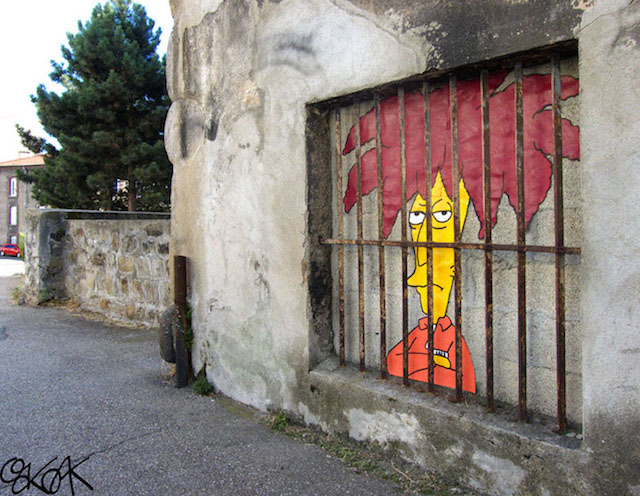 A Street Art Tribute to the Simpsons Co-Creator