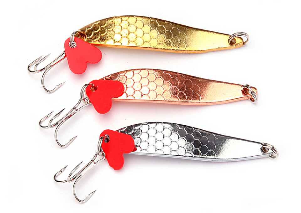 33//66Pcs Fishing Lures Spinners Swimbait Crankbait Minnow Feathered Metal Spoons