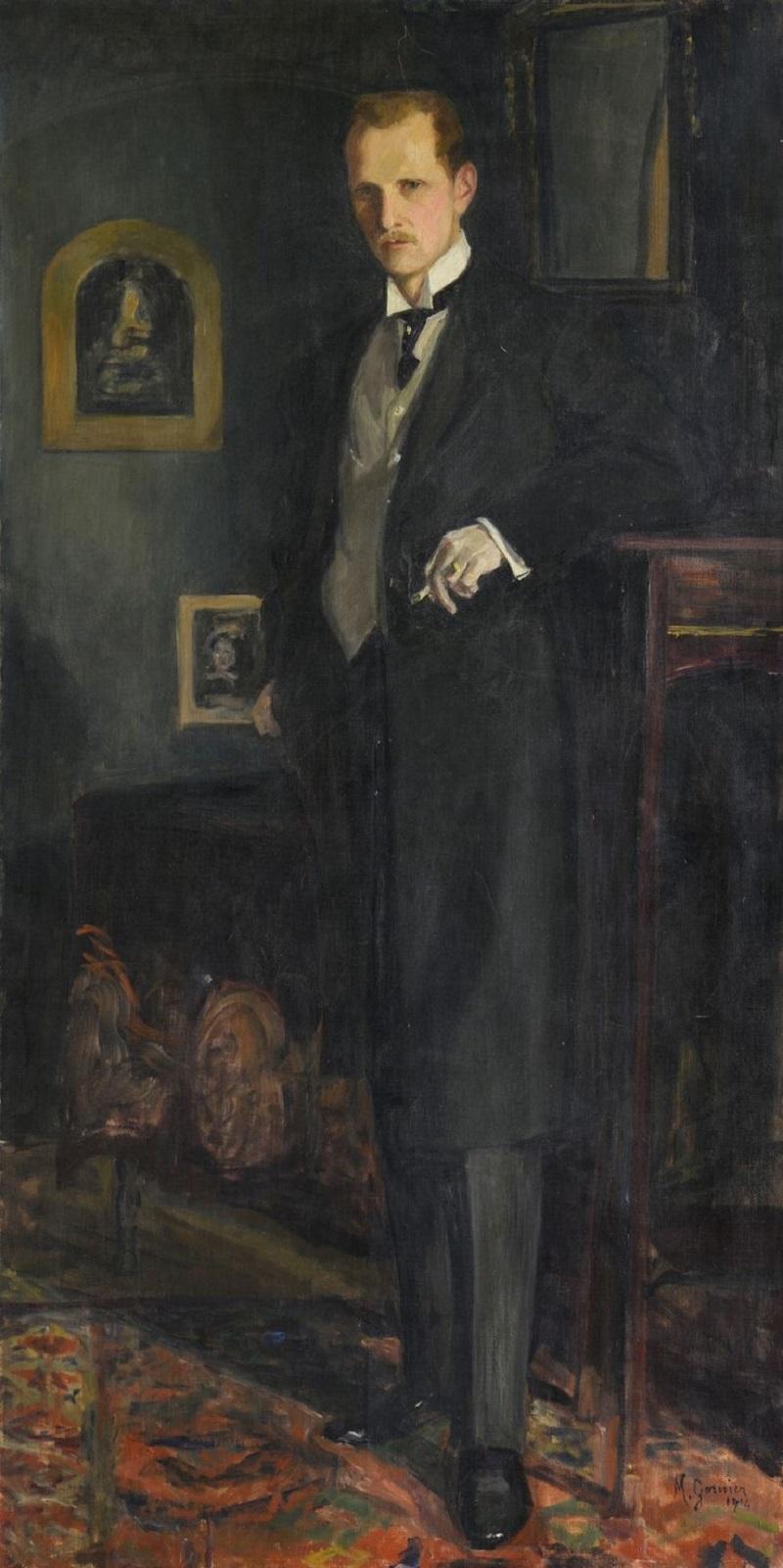 Portrait d'homme en pied à la cigarette, 1914.
