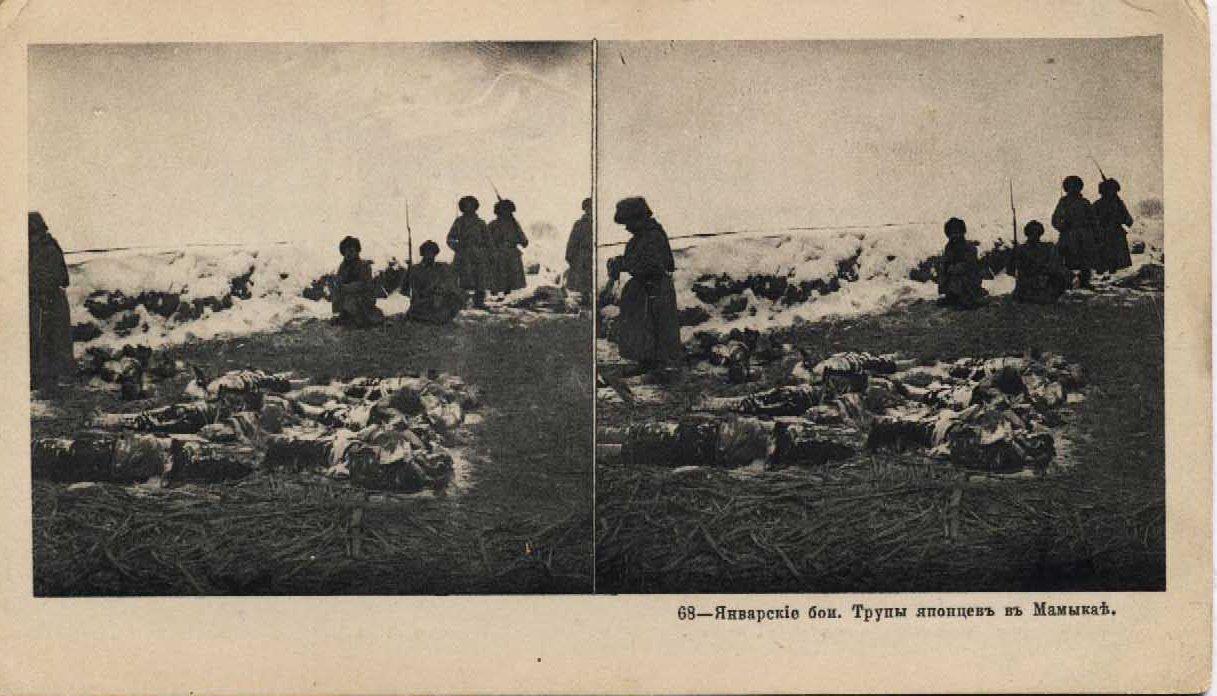 68. Январские бои. Трупы японцев в Мамыкае