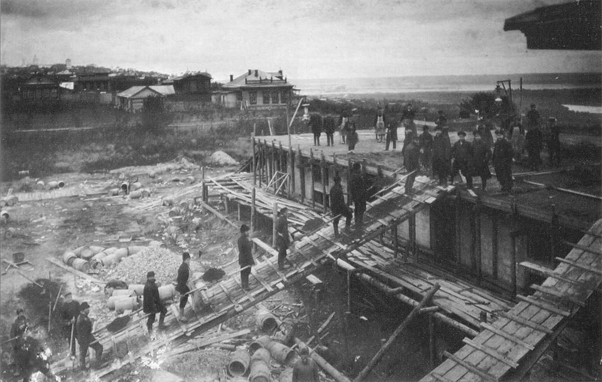 Строительство городских скотобоен. 1913
