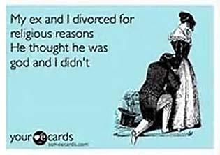мой муж считал себя Богом, а я нет